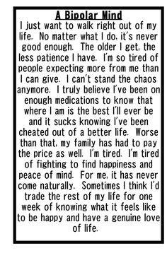 Bipolar Disorder Quotes And Sayings Bipolar disorder.