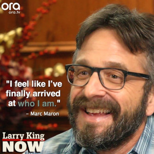 Marc Maron has found his comfort zone #LarryKingNow