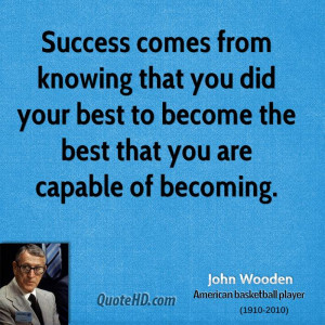 Success comes from knowing that you did your best to become the best ...
