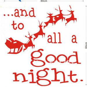 ... Good Night Quote Vinyl Wall Decals Removable Shop Glass Window