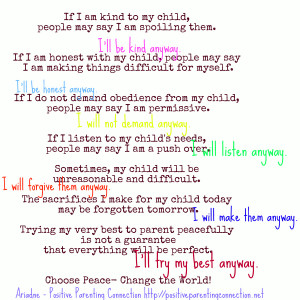 If I Am Kind To My Child…
