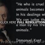 kant, quotes, sayings, animals, judge, treatment immanuel kant, quotes ...