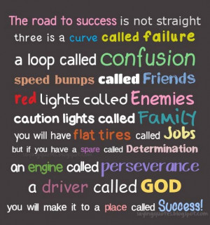 The road to success is not straight three is a curve