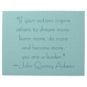 John Quincy Adams Leadership Quote Jigsaw Puzzles