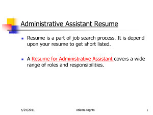Resumes Administrative Resume