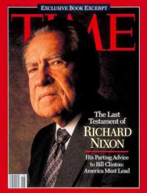 Time - Richard Nixon - May 2, 1994 - U.S. Presidents - Politics