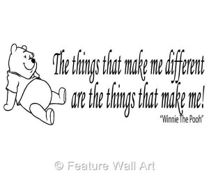pooh bear quotes | WINNIE THE POOH bear quote, wall art, boy / girl ...