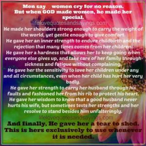 when GOD made women...