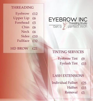 Eyebrow Threading Price