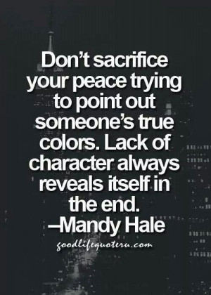 Don't sacrifice your peace
