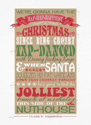 Christmas Vacation Quote - PRINTABLE FILE - Clark Griswold Quote - Red ...