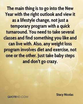 The main thing is to go into the New Year with the right outlook and ...