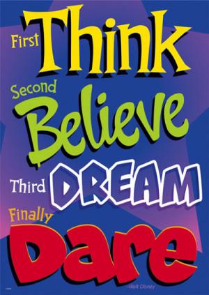 Walt Disney's 4 Steps To Success ~ #poster #taolife #disney #quote