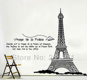 DongFan-Famous-Eiffel-Tower-Building-Wall-sticker-Living-Room-decor ...