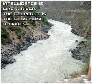Intelligence Is Like A River