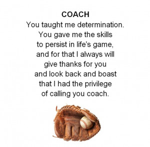 Coach's poem Little League: Amazing Coach, League Sports, Coach Poem ...