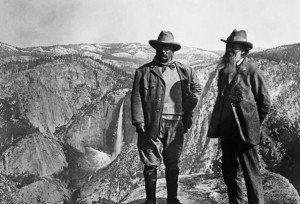 Theodore Roosevelt and John Muir at Yosemite