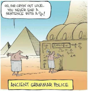 Ancient Grammar Police comic.