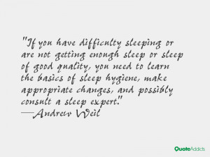 difficulty sleeping or are not getting enough sleep or sleep of good ...