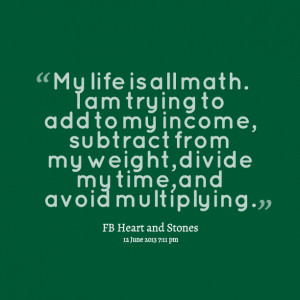 Quotes Picture: my life is all math i am trying to add to my income ...