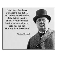 Winston Churchill British Empire Quote Posters