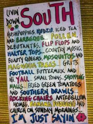 The south!!