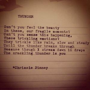Thunder. And Prosper no. 7 #thunder #rain #typed #typewriter # ...