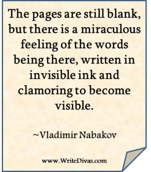 are still blank, but there is a miraculous feeling of the words being ...