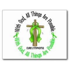 Lime green cancer awareness necklace, non-Hodgkins lymphoma awareness ...