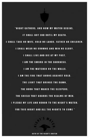 Oath of the Night's Watch - do you dare swear it?