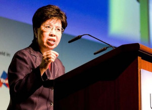 ... Margaret Chan, the head of the World Health Organisation. Photo: Simin