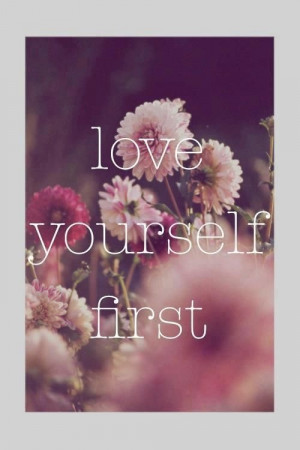 love floral, quote, quotes, yourself