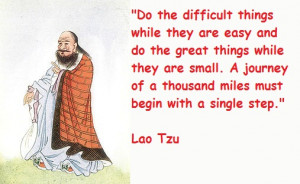 Best Lao Tzu Quote Journey and Single Step