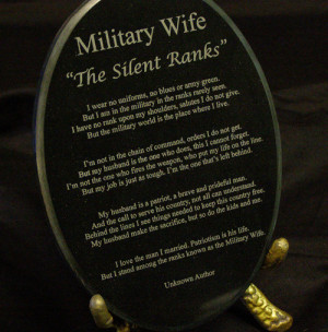 As a military wife, I really understand what these poem means. Being a ...