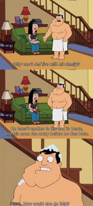 ... Sad Thing About About Jeff's Life In American Dad Picture Quote