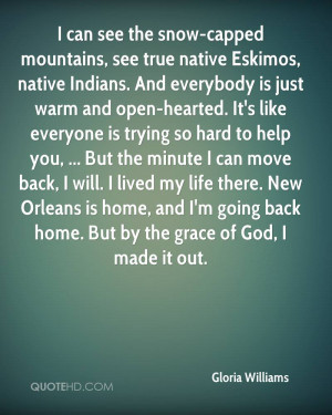 can see the snow-capped mountains, see true native Eskimos, native ...