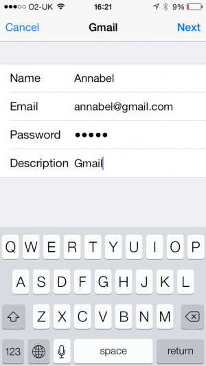 Now you have the option to sync Gmail contacts, calendars and notes ...