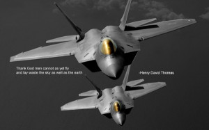 ... military quotes f22 raptor henry david thoreau 1280x800 wallpaper