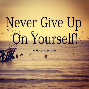 Quotes About Never Giving Up On Yourself. QuotesGram