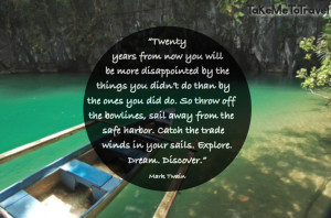 Quote from Mark Twain #travel #quote