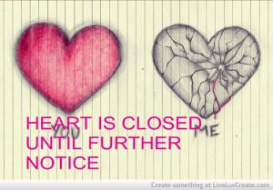 broken heart, cute, pretty, quote, quotes, slims angel