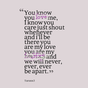 Quotes Picture: you know you love me, i know you care just shout ...