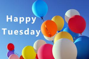 Happy Tuesday Balloons