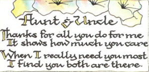 Aunt And Uncle Quotes Sayings