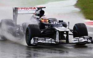 Pastor Maldonado le plus rapide sous la pluie à Hockenheim Crédits ...
