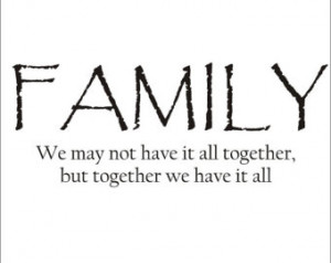 Family Quote Large Vinyl Decal Wall Decal Vinyl Wall Decal Family ...