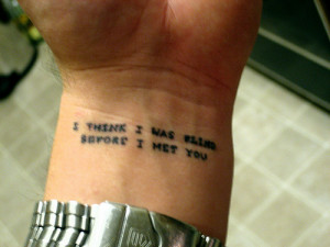 bright eyes · indie · tattoo · lyric · first day of my life