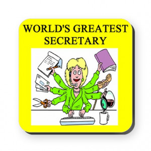 ... & Entertaining > funny joke secretary secretaries Square Coaster