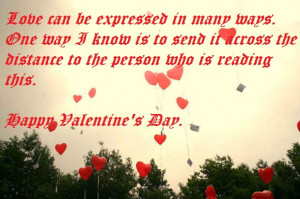 Love can be expressed in many ways.