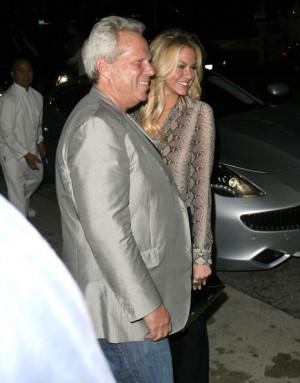 Giants Owner Steve Tisch And Model Elaine Alden Leaving Chow